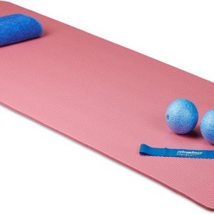 relaxdays yoga mat 1 cm dik - zacht - verschillende kleuren - met draagriem