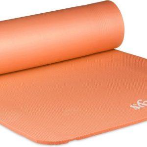 relaxdays yogamat dik - sportmat - workout matje - jogamat - joga matje - mat - 60 x 180 Oranje