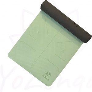 YoZenga Premium yogamat   sportmat   Fitnessmat   extra breed   extra dik   TPE   Lotus Mint/black   inclusief gratis draagriem