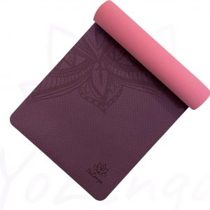 YoZenga Premium yogamat   sportmat   Fitnessmat   extra dik  Mandala Purple/pink   TPE   inclusief gratis draagriem