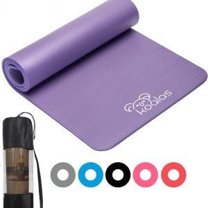 Koalas ® - Yogamat - Fitness Mat Paars - Anti Slip Yoga Mat - Extra Dik 1cm - Draagtas & E-Book