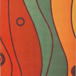 yogigo flow reis yoga mat van rubber en microfiber mexican waves | Eco-Vriendelijk |178cm x 61cm x 1.5mm