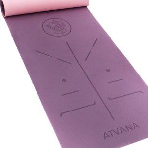 Atvana Yoga Mat - Fitness Mat anti slip - Milieuvriendelijk - 6mm dik - Ganesha - Ajna purple