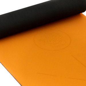 Atvana Yoga Mat - Fitness Mat anti slip - Milieuvriendelijk - 6mm dik - Ganesha - Solar orange