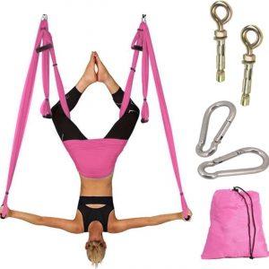Avessa Yoga Aerial swing hangmat met 3 sets handgrepen HEAVY DUTY BETON BEVESTIGING INCLUSIEF gewicht tot 300kg
