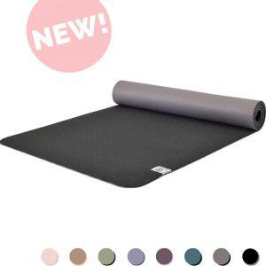 Eco Yogamat | Superior TPE - 5mm | Beautiful Black - Zwart | Veerkrachtig & Gripvast | Love Generation