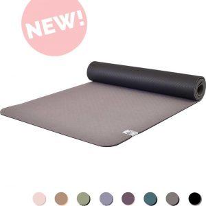Eco Yogamat | Superior TPE - 5mm | Glorious Grey - Grijs | Veerkrachtig & Gripvast | Love Generation