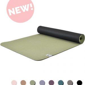 Eco Yogamat | Superior TPE - 5mm | Goddess Green - Groen | Veerkrachtig & Gripvast | Love Generation
