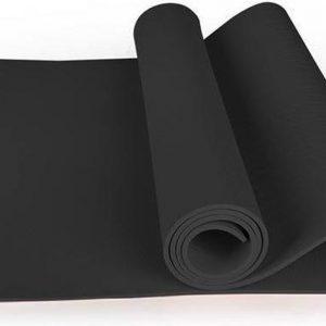 Yoga Mat   10 mm   Donkergrijs   TPE  183cm x 61cm x 1cm   Anti-slip   Gymmat  