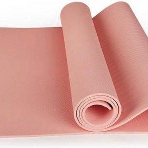 Yoga Mat   10 mm   Roze   TPE  183 cm x 61 cm x 1 cm   Anti-slip   Gymmat  