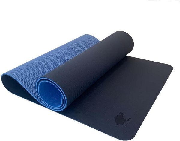 A-FTNSS Yoga Mat   Blauw & Licht Blauw   7cm   Anti-Slip