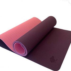A-FTNSS Yoga Mat | Paars & Roze | 7cm | Anti-Slip