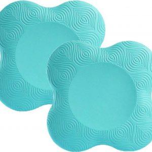 DW4Trading® Yoga kniebeschermer mat set van 2 stuks mint groen