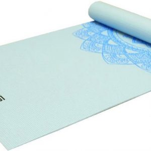 Focus Fitness - Yoga Mat Blauw Met Print - Yogamat 173 x 61 x 0.5 cm