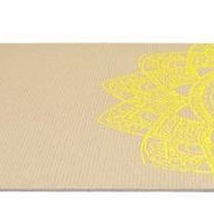 Focus Fitness - Yoga Mat Grijs Met Print - Yogamat 173 x 61 x 0.5 cm