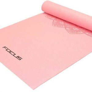 Focus Fitness - Yoga Mat Roze Met Print - Yogamat 173 x 61 x 0.5 cm