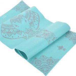 Grijze yogamat inclusief met draagriem - 172x61x0.4cm