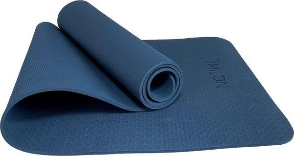 Timilon® Yoga mat - 181 x 61x 0,6cm - Antislip - Blauw - Inclusief draagtas en draagkoord