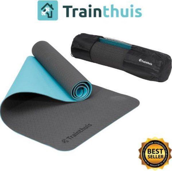 Trainthuis Yoga mat - fitness mat - thuis sporten - Anti slip 6mm
