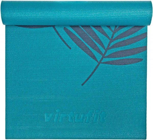 VirtuFit Premium Yogamat - 183 x 61 x 0,4 cm - Ocean Green Forest