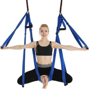 Yoga Aerial swing hangmat met 3 sets handgrepen - Blue