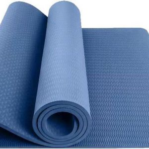 Yoga mat - Profisport - Fitness mat - Blauw - Sport mat - Yoga mat anti slip - Yoga mat dik - Yoga mat blauw - Eco friendly -