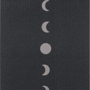 Yogamat sticky extra dik moon zwart - Lotus - 6 mm