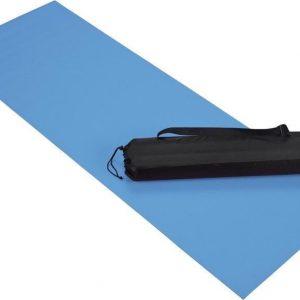 Blauwe fitness mat - 60 x 170 cm