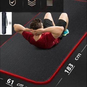 LORIOTH® Extra Dikke Yogamat - Yoga Mat Antislip - Mat voor Fitness Oefeningen - Fitness Mat 10CM dik - Zwart