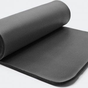Yogamat, Fitnessmat zwart 185 x 80 x 1,5 cm gymnastiekmat fitness yoga gym joga vloermat fitniss sportmat fitnis - Multistrobe