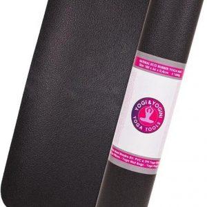 Yogi & Yogini Yoga mat met yoga gids - Yogamat met draagkoord - Ecologisch materiaal - Zwart