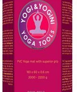 Yogi & Yogini Yoga mat met yogagids - Yogamat met draagkoord - PVC Deluxe - Paars